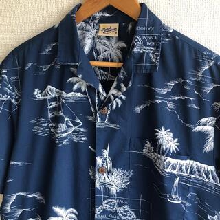 アロハシャツ ハワイ製 総柄 ロイヤルクリエイションズ(シャツ)
