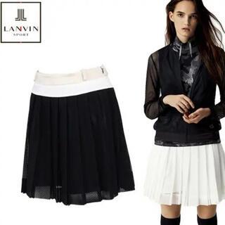 LANVIN - ランバン36,000円 ゴルフ プリーツスカート   黒38 Mサイズ