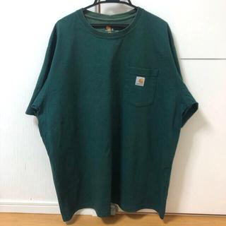 carhartt - 【レア】Carhartt カーハート Tシャツ グリーン XL ビッグサイズ