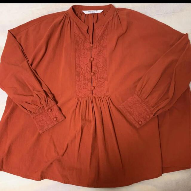 Ray BEAMS(レイビームス)のヨークレースボリュームブラウス レディースのトップス(シャツ/ブラウス(長袖/七分))の商品写真