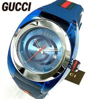 グッチ(Gucci)の新品人気GUCCI WATCH SYNCグッチ腕時計 ブルー男女兼用ユニセックス(ラバーベルト)