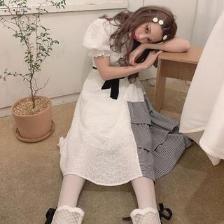 スワンキス(Swankiss)のSwankiss❤︎ HS gingham cotton O/P(ひざ丈ワンピース)
