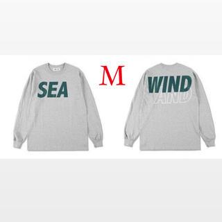 SEA - wind and sea S/L T-shirt grey green Mサイズ