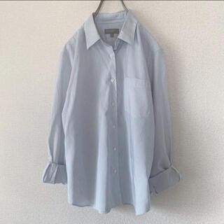 MARGARET HOWELL - マーガレットハウエル / ストライプシャツ 半袖 水色