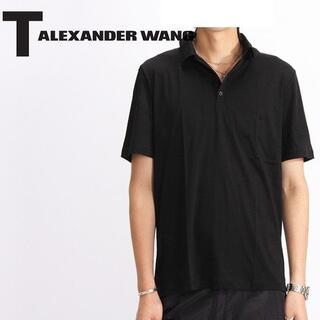 アレキサンダーワン(Alexander Wang)の★格安 人気 アレキサンダーワン 半袖ポロシャツ S 黒 デザイナーズ ブランド(ポロシャツ)