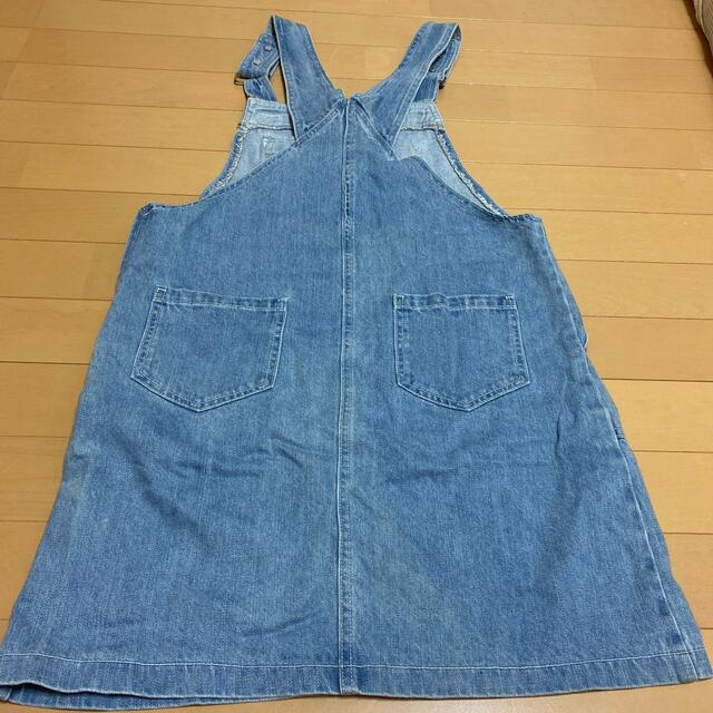 lovetoxic(ラブトキシック)のラブトキシック オーバースカート 160   ジーンズ  キッズ/ベビー/マタニティのキッズ服女の子用(90cm~)(スカート)の商品写真