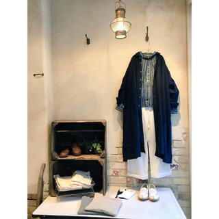nest Robe - * nest Robe * 2017  コットンリネン丸襟ワイドシャツ