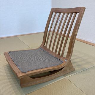カリモクカグ(カリモク家具)の美品⭐︎カリモク座椅子 ナチュラル(座椅子)