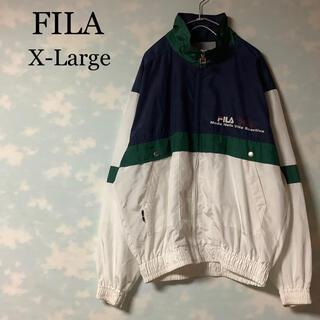 フィラ(FILA)のFILA ナイロンジャケット マルチカラー バックプリント ロゴマーク(ナイロンジャケット)