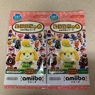 ニンテンドースイッチ(Nintendo Switch)の【新品未開封】どうぶつの森 amiiboカード 第4弾 2パック(カード)