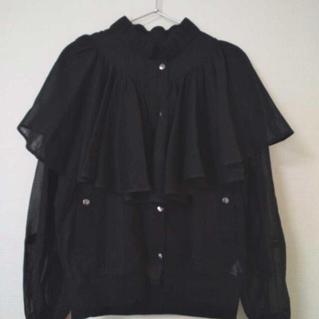 ENFOLD(エンフォルド)のenfold  シースルー ブルゾン 新品未使用 レディースのジャケット/アウター(ブルゾン)の商品写真