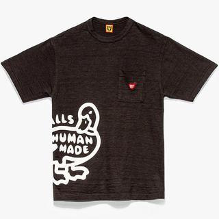 A BATHING APE - HUMAN MADE 新作 ダック ハート ポケット Tシャツ 黒 L
