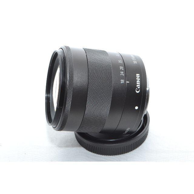 Canon(キヤノン)のCANON EF-M18-55mm F3.5-5.6 IS STM ブラック スマホ/家電/カメラのカメラ(レンズ(ズーム))の商品写真
