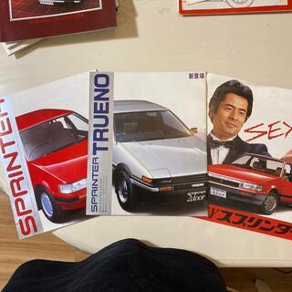 トヨタ(トヨタ)の旧車カタログ スプリンタートレノ 3種(カタログ/マニュアル)