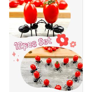 【新品】蟻さんフルーツピック 12匹セット(カトラリー/箸)