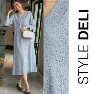 STYLE DELI - 〘新品タグ付き〙STYLE DELI*フロントボタンレースロングワンピース