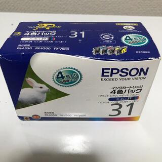 エプソン(EPSON)のEPSON IC4CL31 インクカートリッジ 4色パック(PC周辺機器)