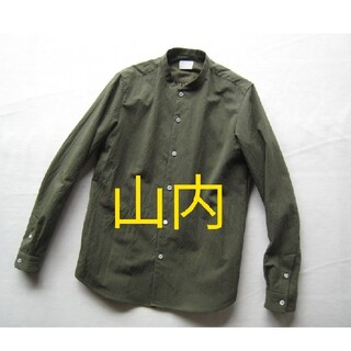 COMOLI - 【着用少ない美品】山内 塩縮加工リネンシャツ 4 グリーン