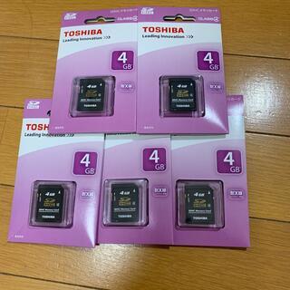 東芝 - TOSHIBA SDカード  4GB 5枚