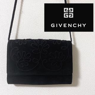 GIVENCHY - ジバンシー 刺繍ショルダーバッグ スウェード スエード ジバンシィ バック ロゴ