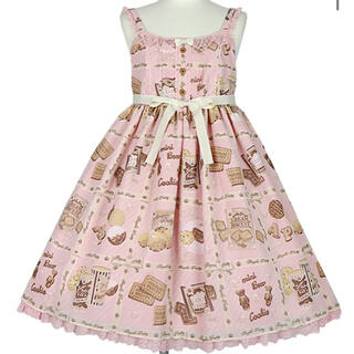 Angelic Pretty - Cream Cookie CollectionハイウエストJSK