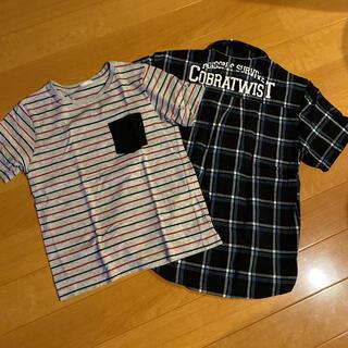 ジーユー(GU)の140 2着セット(Tシャツ/カットソー)
