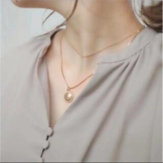 シマムラ(しまむら)のてらさん 2連ネックレス ゴールド プレートネックレス(海外アーティスト)