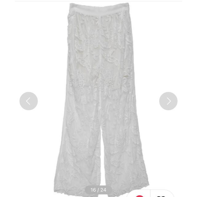 Ameri VINTAGE(アメリヴィンテージ)のMEDI EMBROIDERY TULLE PANTS レディースのパンツ(カジュアルパンツ)の商品写真