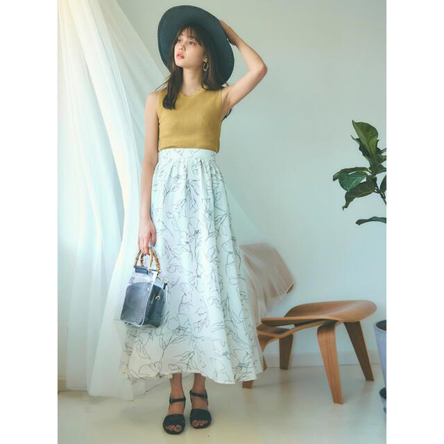 GRL(グレイル)の【新品未使用】花柄フレアスカート ブルー レディースのスカート(ロングスカート)の商品写真