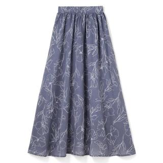 GRL - 【新品未使用】花柄フレアスカート ブルー
