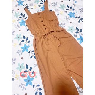 ジーユー(GU)の美品♡GU フロントボタンオールインワン サロペット(サロペット/オーバーオール)