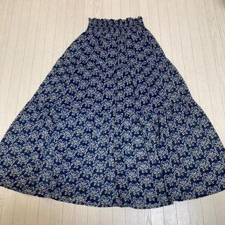 エムズエキサイト(EMSEXCITE)のemsexcite  ロング丈 スカート   ネイビー  花柄 ⭐︎ 美品(ロングスカート)