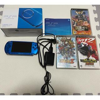 プレイステーションポータブル(PlayStation Portable)のPSP本体+ソフト3本(携帯用ゲーム機本体)