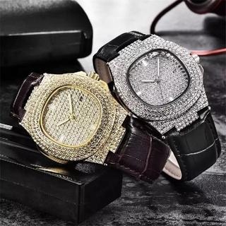 レザー 腕時計 メンズ レディース シルバー ヒップホップ ストリート 韓国