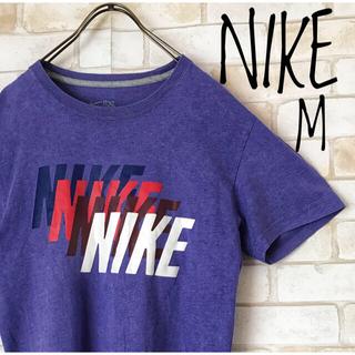 ナイキ(NIKE)の古着 NIKE ナイキ 虹色デカロゴ 紫TシャツM(Tシャツ/カットソー(半袖/袖なし))