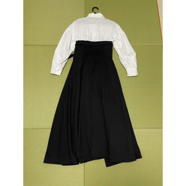 Ameri VINTAGE(アメリヴィンテージ)のmillefeuille shirt dress ブラックS レディースのワンピース(ロングワンピース/マキシワンピース)の商品写真