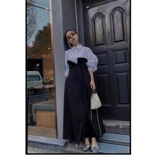 Ameri VINTAGE - millefeuille shirt dress ブラックS