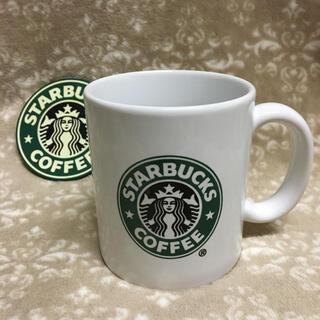 Starbucks Coffee - スターバックス 旧ロゴ マグカップ 非売品 コースターセット