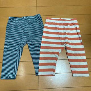 ユニクロ(UNIQLO)のユニクロ ボーダー レギンス パンツ ズボン 80 90(パンツ)