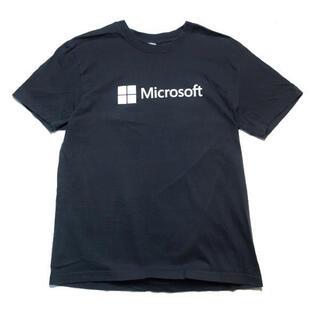 【希少】00s Microsoft Windows 企業ロゴ Tシャツ グレー