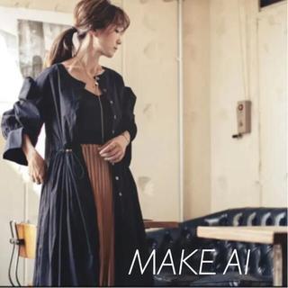 make-ai  3WAY ピンタックワンピース ブラック