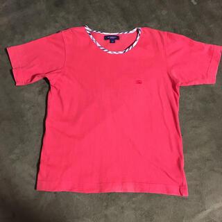 バーバリー(BURBERRY)のBURBERRY バーバリー カットソー 半袖 S 赤 オレンジ 男女兼用(Tシャツ/カットソー)