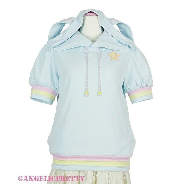 Angelic Pretty(アンジェリックプリティー)のカラフルStarパーカ レディースのトップス(パーカー)の商品写真