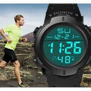 HONHX 腕時計 ダイバーズウォッチ デジタル腕時計 新品 3気圧防水(腕時計(デジタル))