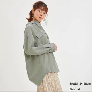 ジーユー(GU)のコーデュロイオーバーシャツ(シャツ/ブラウス(長袖/七分))