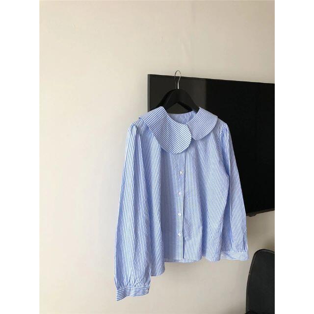 ZARA(ザラ)のアンバランス 襟ブラウス レディースのトップス(シャツ/ブラウス(長袖/七分))の商品写真