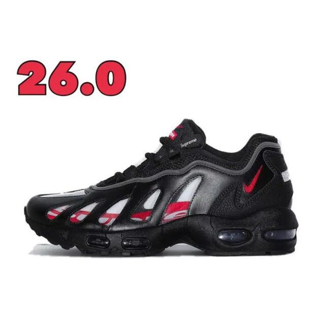 Supreme(シュプリーム)のsupreme NIKE AIR MAX96 black 26 メンズの靴/シューズ(スニーカー)の商品写真