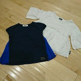 アナップキッズ(ANAP Kids)のOtonatoサイドプリーツTシャツ サイズ95+anapwayレースカットソー(Tシャツ/カットソー)