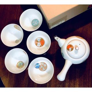 香蘭社 - 深川製磁 寿赤絵 急須茶器セット