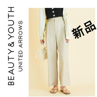 BEAUTY&YOUTH UNITED ARROWS - 新品BEAUTY&YOUTH リネンタックワイドパンツUNITED ARROWS